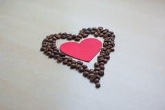 Coffee and Valentine's day. Texture, decoration, coffee for Valentine's day royalty free stock photo