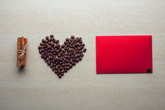 Coffee and Valentine's day. Texture, decoration, coffee for Valentine's day royalty free stock image