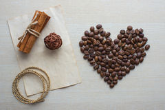 Coffee and Valentine's day. Texture, decoration, coffee for Valentine's day stock photos