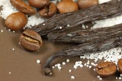 Coffee and vanilla Stock Photo