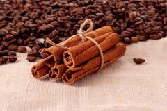 Coffee  and vanilla Stock Photos