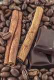 Coffee  and vanilla background Royalty Free Stock Photography