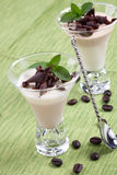 Coffee Vanilla Panna Cotta Royalty Free Stock Photography