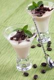 Coffee Vanilla Panna Cotta Royalty Free Stock Photography