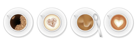 Coffee variations Stock Images