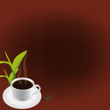 Coffee (Vector). Vector illustration of a cafe menu with coffee cup Stock Illustration