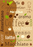 Coffee Vector background Royalty Free Stock Photo