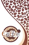 Coffee vector background Royalty Free Stock Image