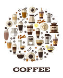 Coffee vector Royalty Free Stock Photography