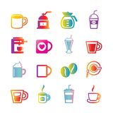 Coffee vector gradient icons Royalty Free Stock Image