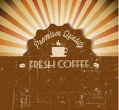 Coffee Vector grunge retro vintage label Stock Image