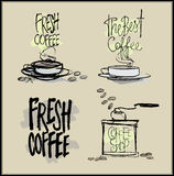 Coffee. Vector Hand drawn  illustrations. Stock Photography