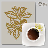 Coffee vector icon for cafes. And bistros Stock Photo