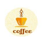 Coffee vector icon logo for cafe, bar, shop. Coffee vectorlogo for cafe, bar, shop. Vector illustration with frame Stock Photos