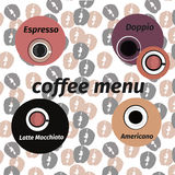 Coffee vector icon set menu for cafe, bar, shop. Stock Images