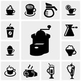Coffee vector icons set on gray. Coffee icons set on grey background.EPS file available Royalty Free Stock Image
