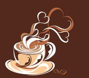 Coffee. Vector illustration  Royalty Free Stock Photos
