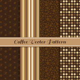 Coffee vector pattern 4 style (brown coffee tone) Stock Photos