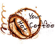 Coffee vector poster illustration for cafe labels Royalty Free Stock Photography