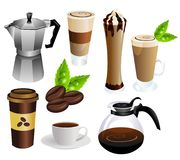 Coffee vector set Royalty Free Stock Photography