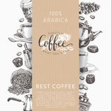 Coffee vector set. Illustrations in sketch style. Stock Image