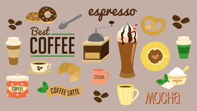 Coffee vector set Stock Photography