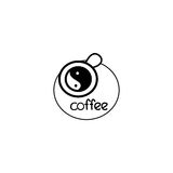 Coffee vector symbol Royalty Free Stock Photography
