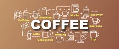 Coffee vector trendy banner Stock Image