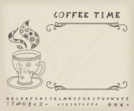 Coffee Vector Vintage Background Royalty Free Stock Photography