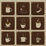 Coffee vectors Royalty Free Stock Photos