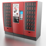 Coffee and vending machine. Computer generated image (3d render Stock Photo