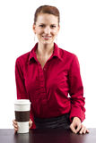 Coffee Vendor Stock Image