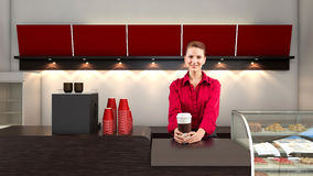 Coffee Vendor Royalty Free Stock Photo