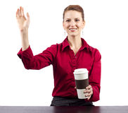 Coffee Vendor Royalty Free Stock Photography