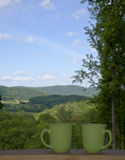 Coffee and a view Royalty Free Stock Images