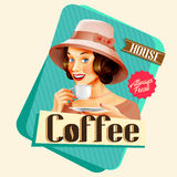 Coffee vintage banner Royalty Free Stock Photos