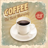 Coffee vintage banner Stock Photo