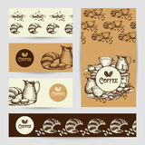 Coffee vintage banners composition poster Royalty Free Stock Photos