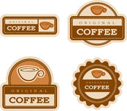 Coffee Vintage Food Labels Stock Images