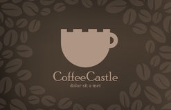 Coffee vintage logo design template. Cafe menu cov Royalty Free Stock Photo