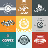 Coffee Vintage Logo Stock Photography