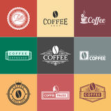 Coffee Vintage Logo Royalty Free Stock Images