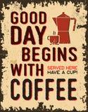 Coffee vintage poster stock illustration