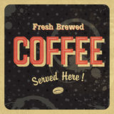 Coffee vintage poster. Vector Royalty Free Stock Photography