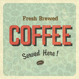 Coffee vintage poster. Vector Royalty Free Stock Photos