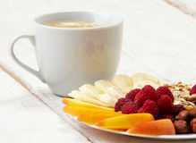 Coffee with vitamins dessert Royalty Free Stock Photo