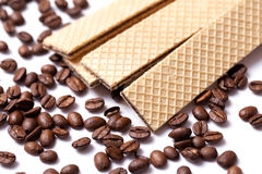 Coffee wafer Royalty Free Stock Photo
