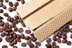 Coffee wafer Stock Photo