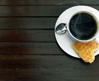 Coffee with waffle Stock Images