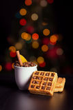 Coffee and waffle Royalty Free Stock Photo
